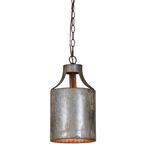 Darcy Galvanized 15-Inch One-Light Pendant