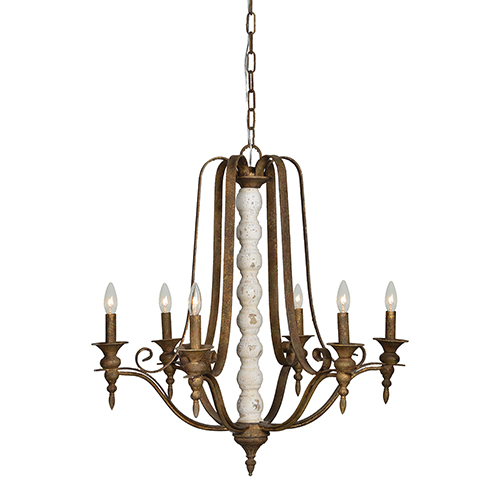 Forty West Ava Distressed Cream Gold And Antiqued Copper