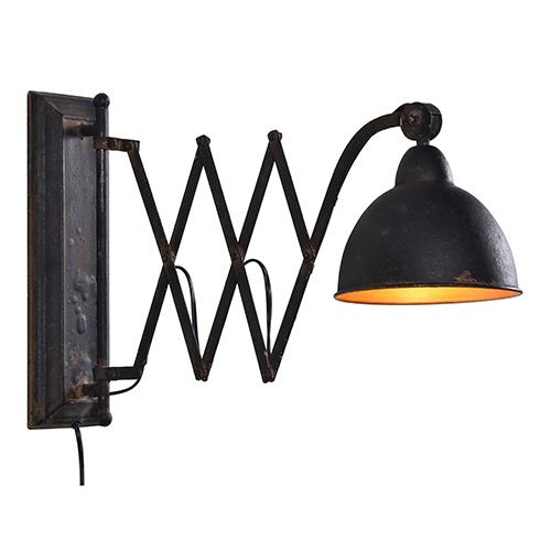 Pierce Rustic Black Plug-In Sconce