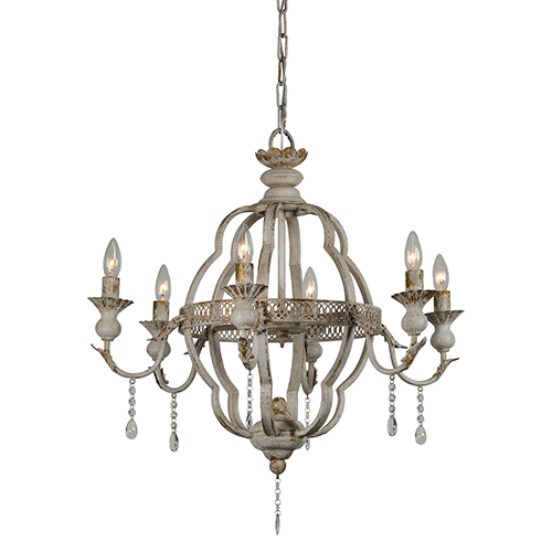 Forty West Amelia Cottage White Chandelier 70792 Bellacor