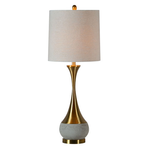 Claudia Concrete and Antique Bronze One-Light 36-Inch Table Lamp, Set of Two