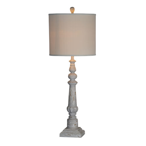 Karl Distressed Gray One-Light 44-Inch Table Lamp