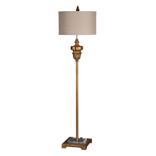 Harvay Old Gold 16-Inch One-Light Floor Lamp