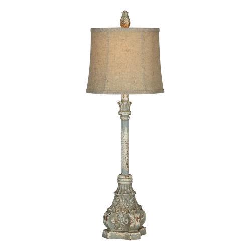 Rita Antique Blue One-Light 32-Inch Buffet Lamp