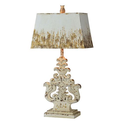 Lincoln Distressed White Wash One-Light Table Lamp