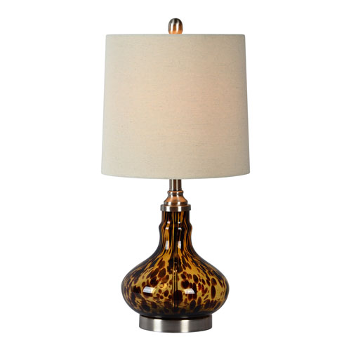Noelle Tortoise One-Light Table Lamp