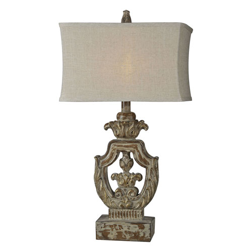 Isabella Washed Walnut One-Light Table Lamp