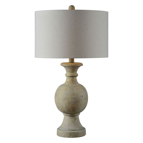 Ellis Faux Stone One-Light Table Lamp