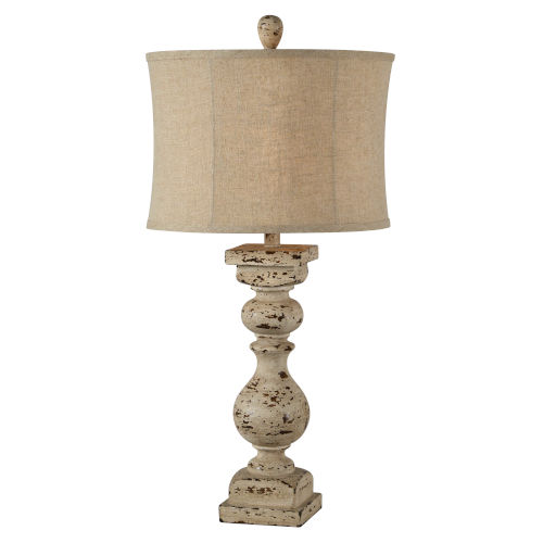 Cooper Distressed Cream One-Light 31-Inch Table Lamp