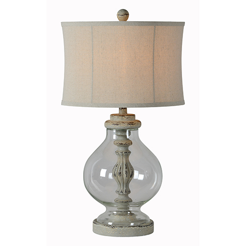 Emily Distressed Blue Table Lamp