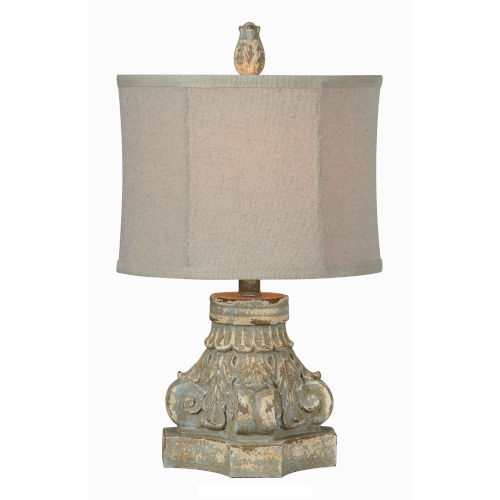Roma Distressed Blue One-Light 21-Inch Table Lamp