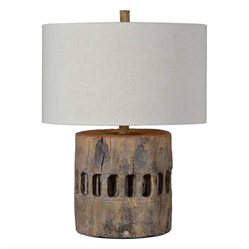 Decklin Weathered Wood 23-Inch One-Light Table Lamp