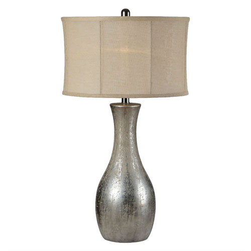 Hazel Antique Silverleaf One-Light Table Lamp