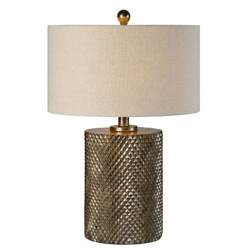 Maverick Hues Of Champagne, Bronze and Silver One-Light 25-Inch Table Lamp