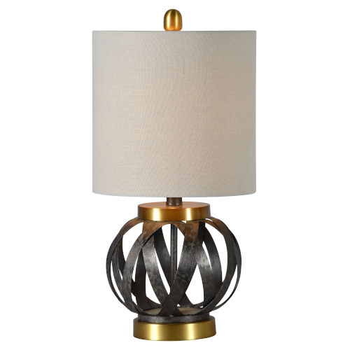 Theo Aged Metal and Antique Bronze One-Light 21-Inch Table Lamp