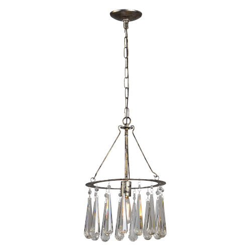 Silver 12-Inch One-Light Chandelier