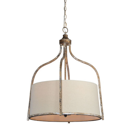 Cruz Metallic Four-Light Pendant