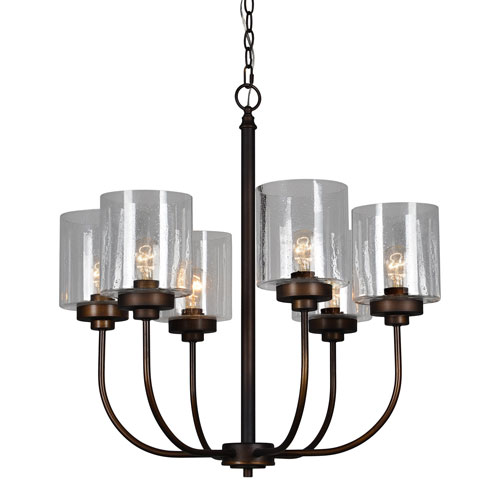 Windemere Antique Bronze Six-Light Chandelier