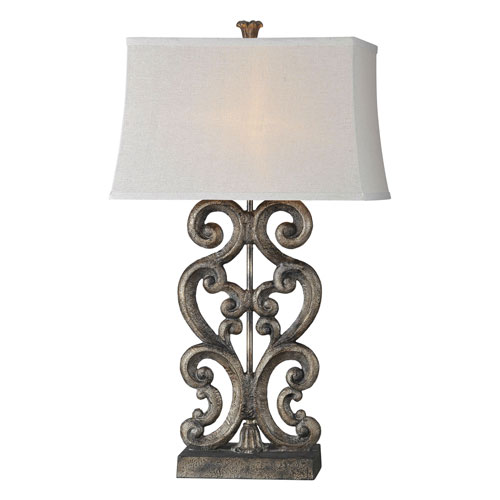 Forty West Amanda Aged Bronze One-Light Table Lamp
