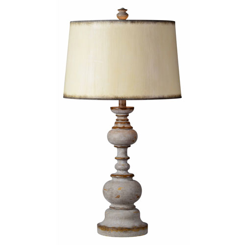 Forty West Nancy Dusky Gray One-Light Table Lamp