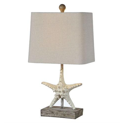 Darla Cottage White One-Light Table Lamp
