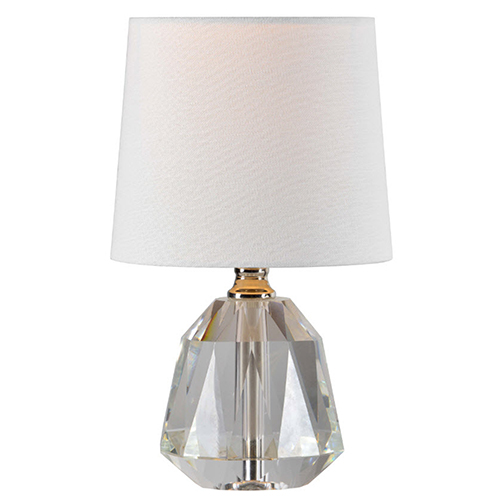 Slade Crystal and Polished Nickle 12-Inch One-Light Crystal Lamp
