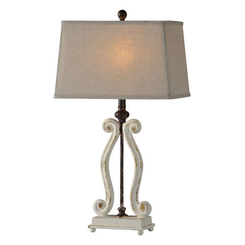 Alaina Cottage White One-Light 29-Inch Table Lamp