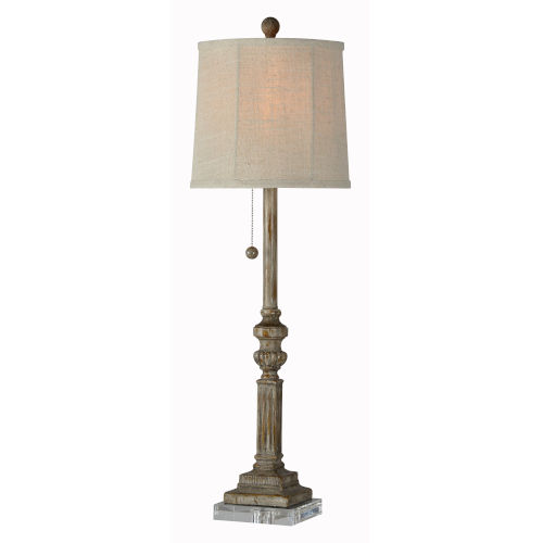 Marshall Worn Wood One-Light 33-Inch Buffet Lamp