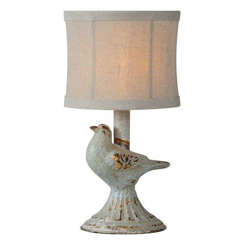 Robin Blue One-Light 12-Inch Table Lamp