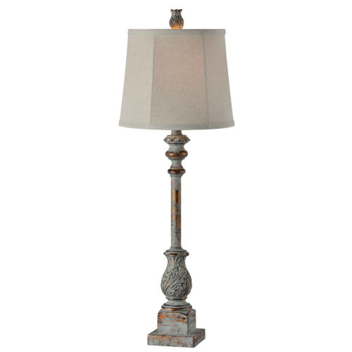 Tilly Blue and Gold One-Light 32-Inch Buffet Lamp