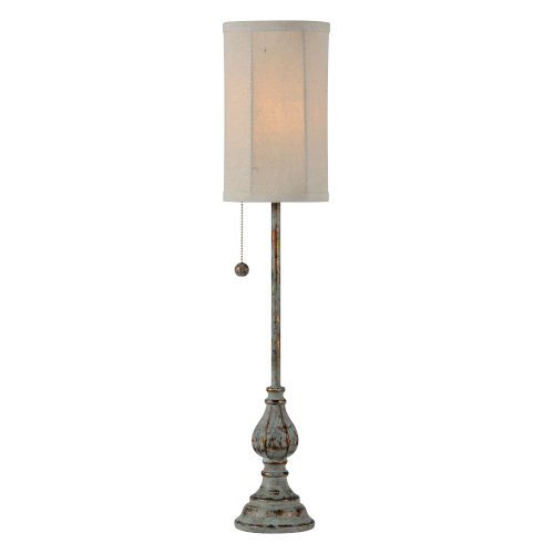 Millie Blue and Gold One-Light 28-Inch Buffet Lamp - Set of Two