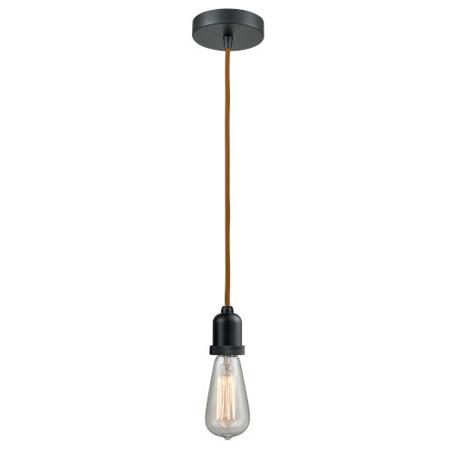 Whitney Matte Black Two-Inch One-Light Mini Pendant with Copper Cord