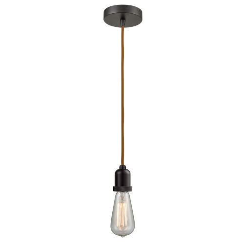 Whitney Oil Rubbed Bronze Two-Inch One-Light Mini Pendant with Copper Cord