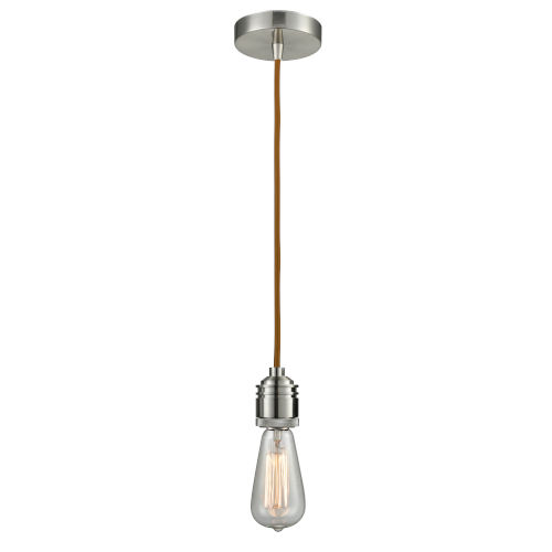 Winchester Satin Nickel Two-Inch One-Light Mini Pendant with Copper Cord
