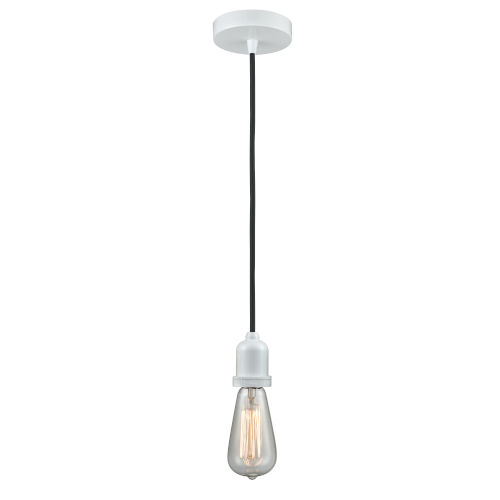 Whitney White Two-Inch One-Light Mini Pendant with Black Cord