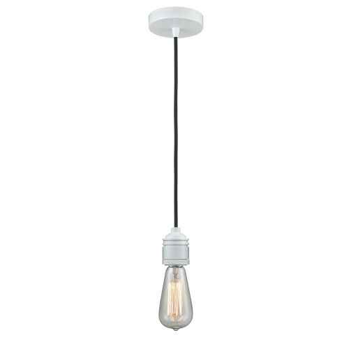 Winchester White Two-Inch One-Light Mini Pendant with Black Cord