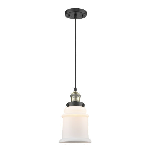 Canton Black Antique Brass One-Light Mini Pendant