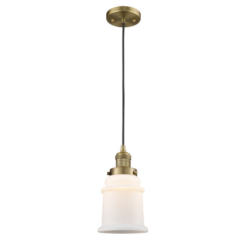 Canton Brushed Brass LED Mini Pendant