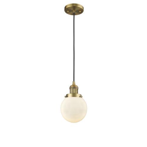 Beacon Brushed Brass One-Light Mini Pendant