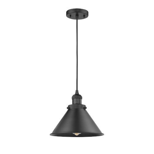 Briarcliff Matte Black One-Light Pendant