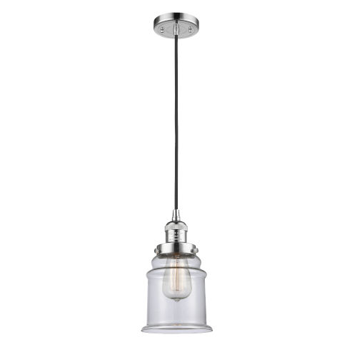 Canton Polished Chrome One-Light Mini Pendant with Clear Glass