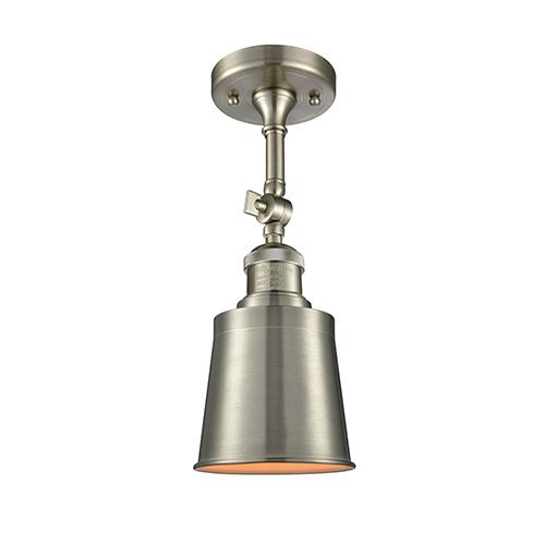 Innovations Lighting Addison Brushed Satin Nickel 13-Inch LED Semi Flush Mount