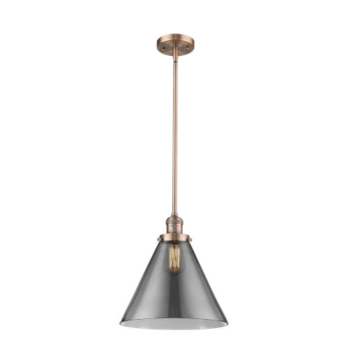 X-Large Cone Antique Copper One-Light Hang Straight Swivel Pendant