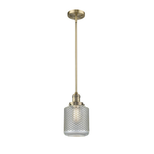 Stanton Brushed Brass One-Light Mini Pendant