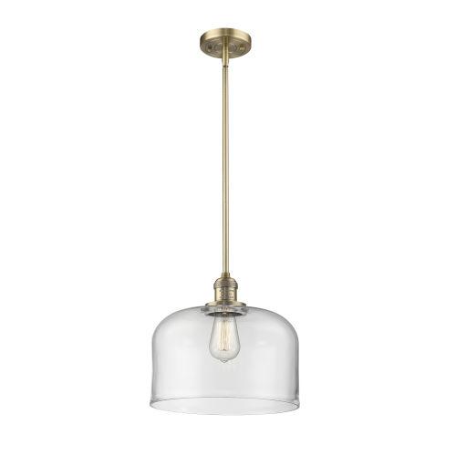 X-Large Bell Brushed Brass LED Pendant