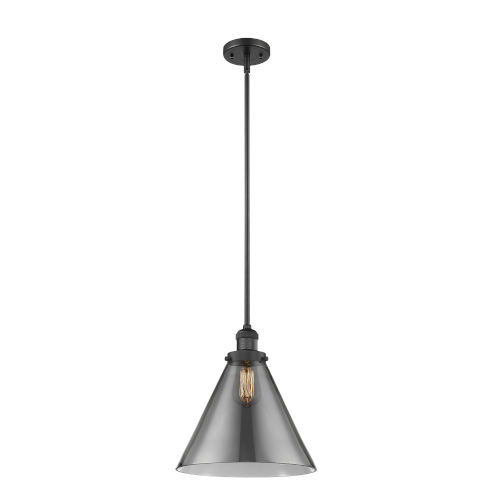 X-Large Cone Matte Black One-Light Hang Straight Swivel Pendant