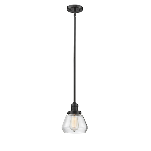 Innovations Lighting Fulton Oiled Rubbed Bronze Nine-Inch LED Mini Pendant with Clear Sphere Glass