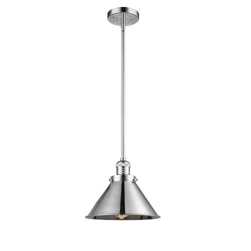 Briarcliff Polished Chrome One-Light Hang Straight Swivel Pendant