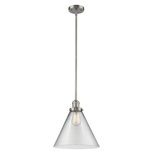X-Large Cone Brushed Satin Nickel LED Pendant
