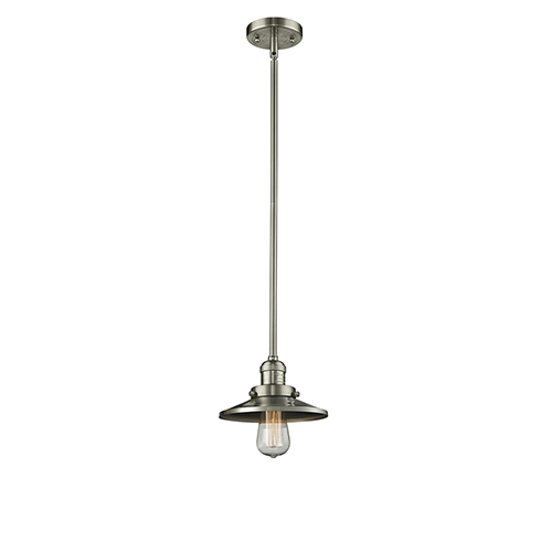 Innovations Lighting Railroad Brushed Satin Nickel Eight-Inch One-Light Mini Pendant